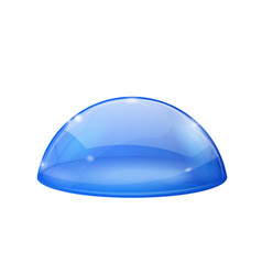 Transparent blue dome glass semi-sphere vector