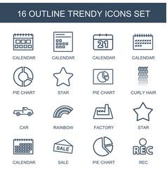 trendy icons vector image