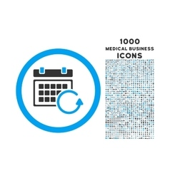 Update Calendar Rounded Icon with 1000 Bonus Icons vector