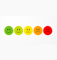 user experience feedback different mood emoticons vector image