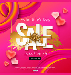 valentines day sale banner layout vector image