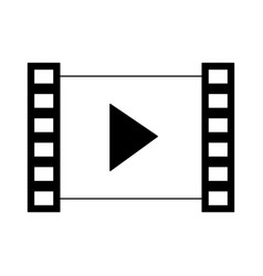 video player symbol in black and white vector image