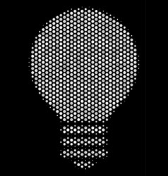 White pixel electric bulb icon vector