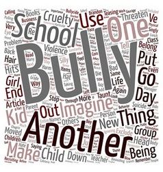 Will your child die of Bullycide text background vector
