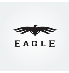 Bird eagle abstract design template vector image vector image