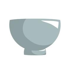 Bowl kitchen decoration elegant icon vector