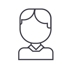 office man avatar line icon sign vector image