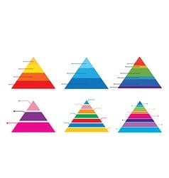 Pyramid chart 1 vector image