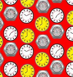 Seamless pattern clock vector image