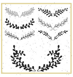collection of hand drawn floral borders and vector image