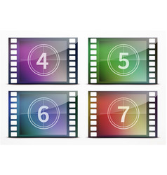 film screen countdown vector image