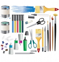 paint accessories vector image