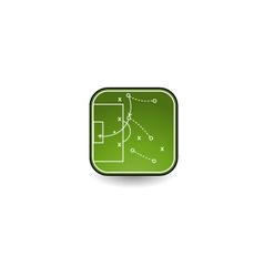 tactics board icon vector image