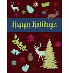 holiday print vector image vector image