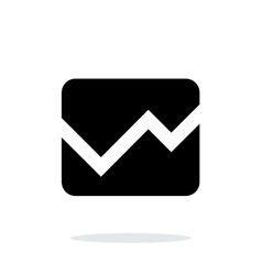 Line chart icon on white background vector image vector image