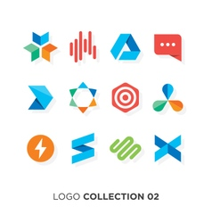 logo collection 02 vector image vector image