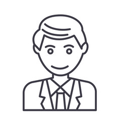 office man businessman line icon sign vector image vector image