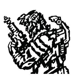 astronaut with blaster in hands vector image vector image
