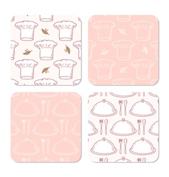 Collection of coasters templates for food design vector image