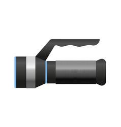 Metallic flashlight luminescence equipment vector