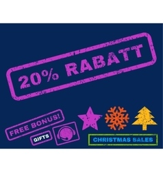 20 Percent Rabatt Rubber Stamp vector