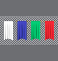 3d model a realistic empty pennant color vector