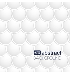 Abstract white paper circles background Fish vector