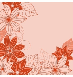 Abstrct floral background vector image
