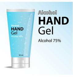 Alcohol hand gel vector