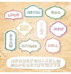 Alphabet and frames vector