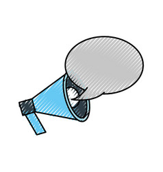 announcement megaphone bubble speak broadcast vector image