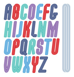 Art funky script from a to z created with vector