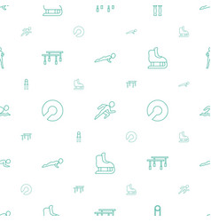 Athlete icons pattern seamless white background vector