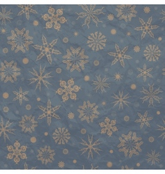 Beige snowflakes on a blue background vector image