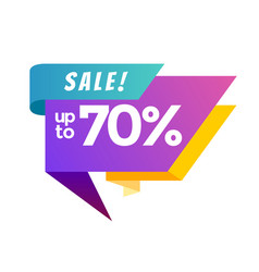big sale banner up to 70 vector image