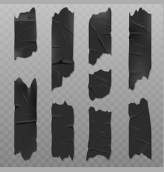 black duct adhesive tape realistic vector image
