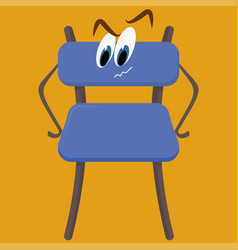 blue chair on white background vector image