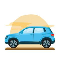 car mini van family flat template vector image