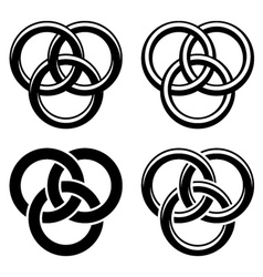 Celtic knot black white symbols vector