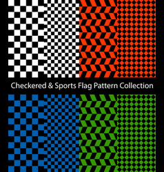 checkered and sports flag collection vector image