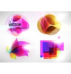 Colorful Abstract Icon Set vector