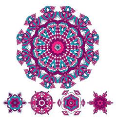 colorful round ethnic mandala vector image
