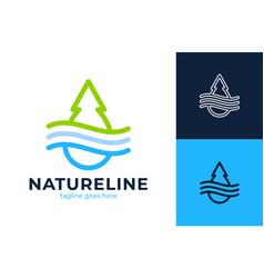 creative green abstract geometric logo icon water vector image