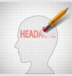 Cure for migraine and stress vector