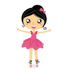 dancing ballerina vector image