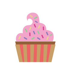Delicious and sweet muffiin desert vector