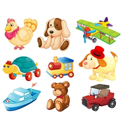 Different toys vector image vector image
