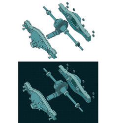 Differential isometric color drawings vector