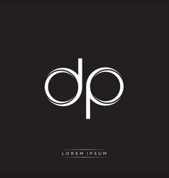 Dp initial letter split lowercase logo modern vector