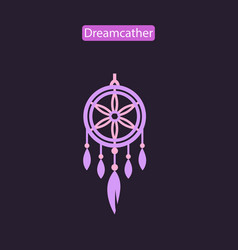 Dreamcatcher flat icon vector